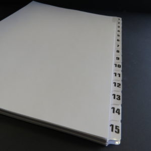A5 Numbered Tab Dividers