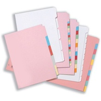 A4 Plain Tab Dividers